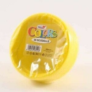 Dopla Plastic Soepkom - Geel 30st 22 ds