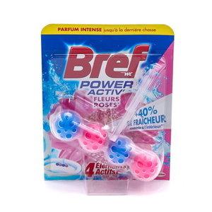 Bref WC Power Active Fleurs Roses 50 gr 10 ds