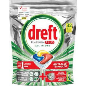 Dreft Dreft Platinium Lemon tabs 8st vaatwas 10 Tabs 124g