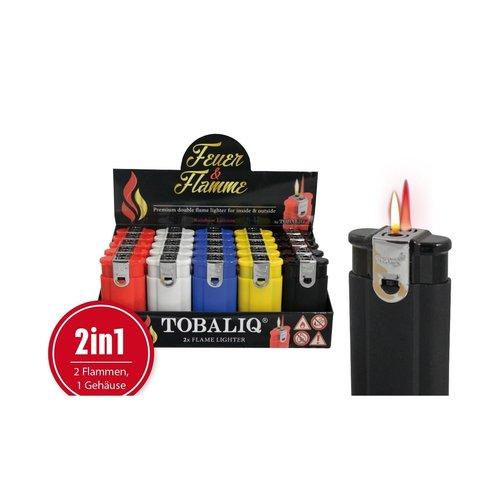 Tobaliq Tobaliq Duo flame TURBO & GEWONE VLAM  Navulbaar