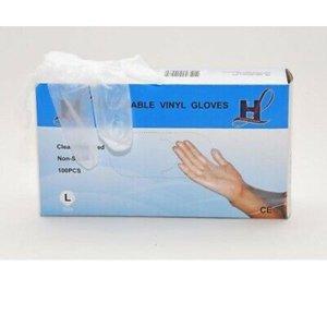 HL Agenturen HL Agenturen Vinyl Wegwerp Handschoenen -Large - 100stuks/doos