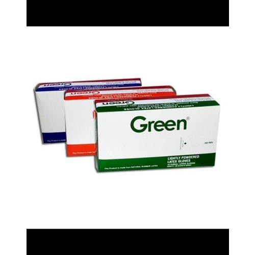 Green Green Handschoen,Latex,Licht Gepoederde, M ,Wit 100 st