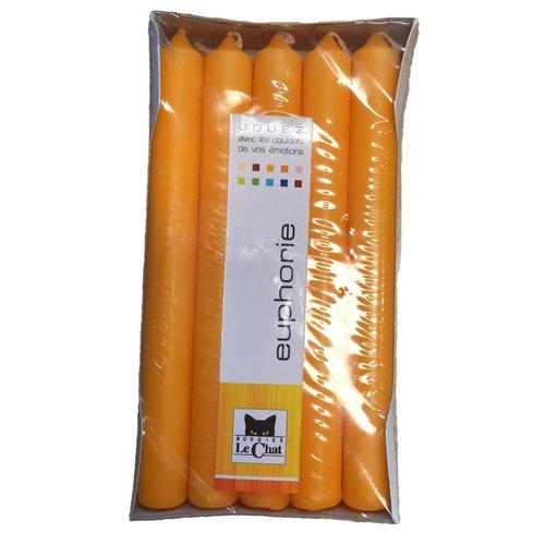 Jouez Dinner kaarsen, huishoudkaarsen Orange Kaarsen 6:30 uur 10st  10ds