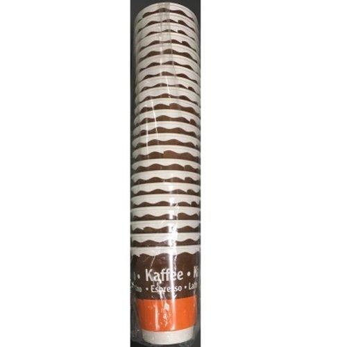 Globus,Milkshakebeker,Karton/PE, 300ml,10oz, bruin/orange 25st x 24pak