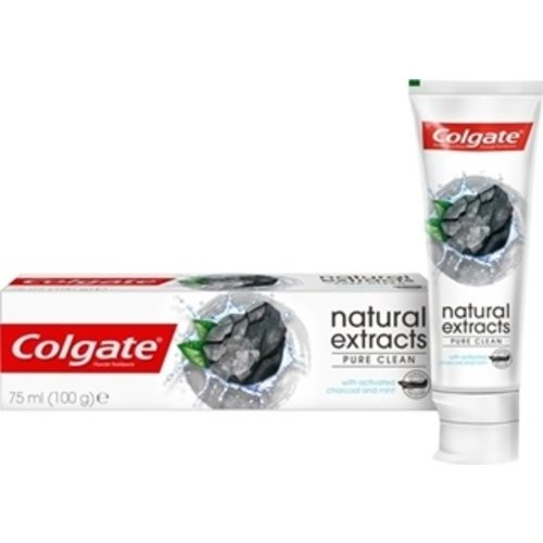 Colgate Colgate Natural Extra Deep Clean White Activated Charcoal Pure Tandpasta 75ml