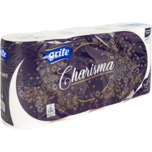 Grite Charisma 8 rollen Toiletpapier Wit 4-laags wc papier 140 vel Extra zacht