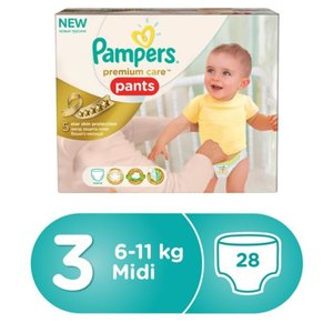 Pampers pants 28 st nr 3-4DS-60