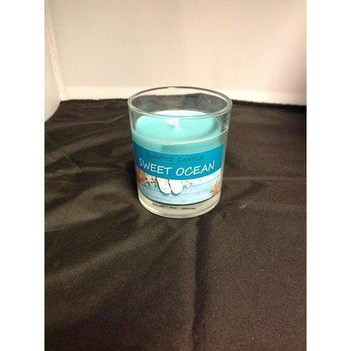 Onbekend Scented Candle  Geurkaars Sweet Ocean Blue 25h  80/72 336gr