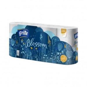 Grite Blossom 8 rollen Toiletpapier Wit 3 laag wc papier 145 vel