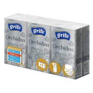 Grite orchidea 6 pak zakdoekjes cell. wit 4laag