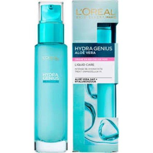 L'Oreal Paris Hydra Genius Liquid Care Moisturiser Sensitive Skin 70ml +L´Oréal Paris Sugar Scrubs Zuiverend Gezichtspeeling 50ml set