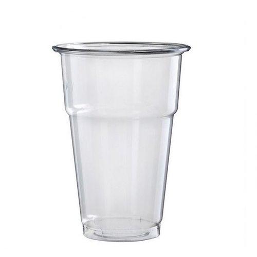 Glas, bier-/frisdrankglas, tulp, PET, 250ml, 106mm, transparant,50st