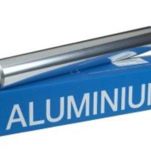 Onbekend Folie, aluminiumfolie, Aluminium, 45cm, 200m, 16my, aluminium