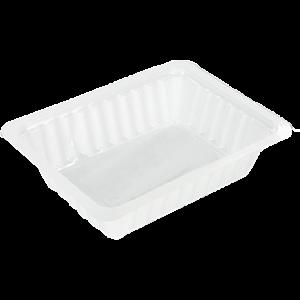 DEPA® Bak, PS, A7, fritesbakje, 121x93x31mm, wit,250st