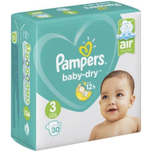 Pampers Pampers Baby Dry Luiers Maat 3 30 stuks(6-10 kg)