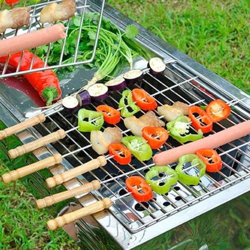 Eda Eda BBQ Naald Kebab 42cm RVS 6 stuks,Barbecue spiezen/vleespennen - Barbecue benodigdheden - Spiezen/pennen voor vlees