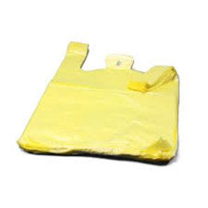 Tas, HDPE, Hemd, 28x 7x48cm, hemdtas, geel,11my extra sterk,2000st