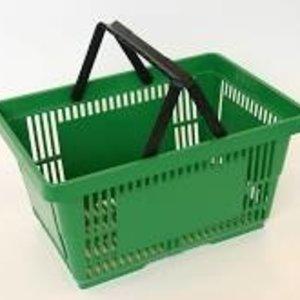 Winkelmand, kunststof, groen.