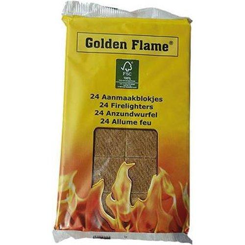 Golden Flame Bruine Aanmaakblokjes 24stuks