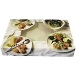 Onbekend Cateringdoos,Vies, Bon appetit, Karton, 357x248x80mm, met venster, wit