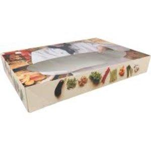 Onbekend Cateringdoos,Vis, Bon appetit, Karton, 464x313x80mm, met venster, wit