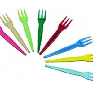 Onbekend Vork, fritesvork, PS, 9cm, assorti