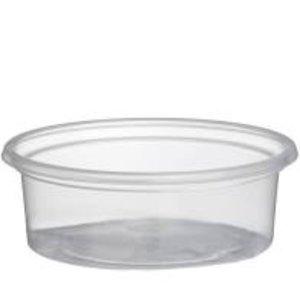 Bak, kunststof cup, transparant, Sauscoup 50cc  met Deksel 1000 st