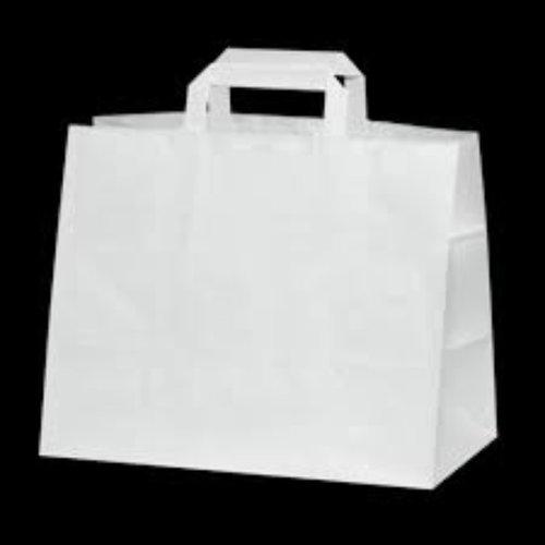 Onbekend Papier Tassen Wit  26+17x 26cm 250 st