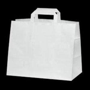Onbekend Papier Tassen Wit 32+17x 26cm 250 st