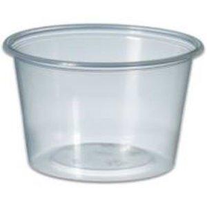 Bak, kunststof cup, transparant, Sauscup  100cc 100st