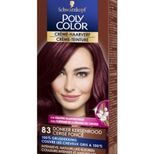 Poly Color Poly Color Haarverf Nr. 83 (Donker Kersenrood),50+40ml
