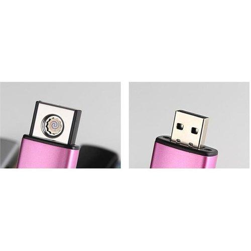 Onbekend USB Elektrische Aansteker Klein - Vlamloze Aansteker - Geen Olie of Gas - Milieuvriendelijk - Bestand tegen de wind - Makkelijk Oplaadbaar aan je Laptop of PC - Gaat Lang Mee - Ideaal Cadeau voor Rokende Vrienden.