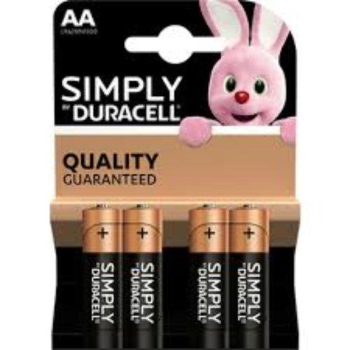 Duracell Duracell Batterij Simply AA 4 stucks