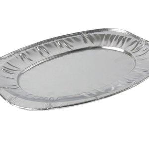 Eda Eda Schaal, schaal ovaal, Aluminium, cateringschaal, 425x285x26mm 2 stuks