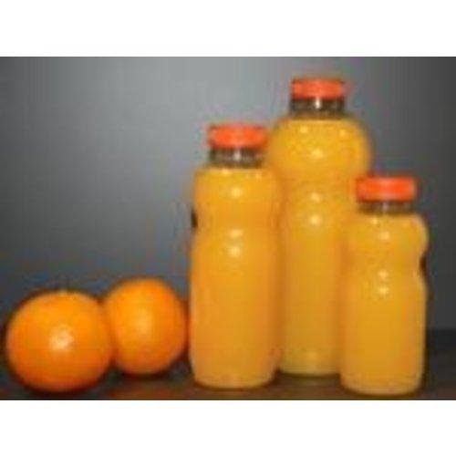 Onbekend Fles, petfles, PET, met oranje dop, 500cc, transparant