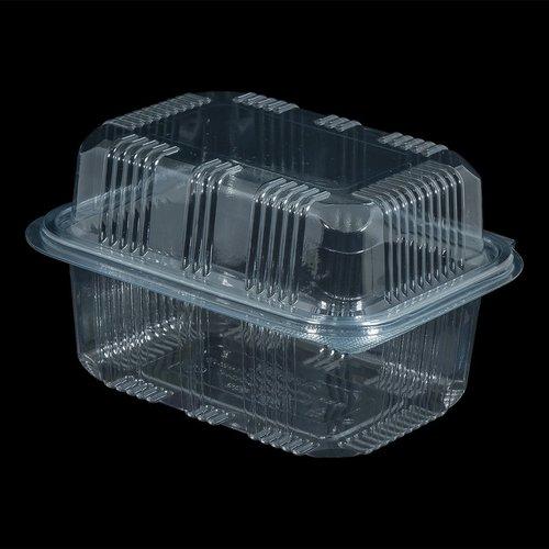 Eda Eda Bak, PET, 500ml, saladebak, 85x100x60mm, transparant,vaste deksel, Hoog