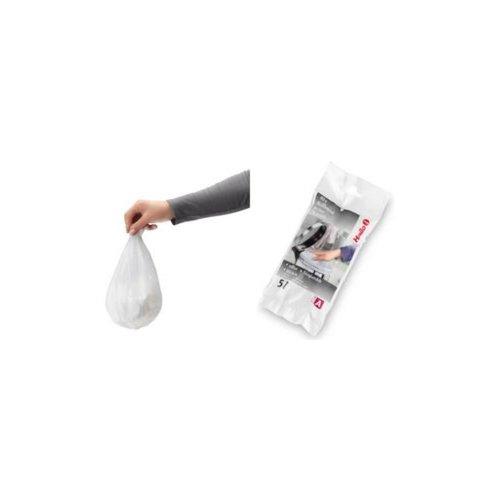 Hailo vuilniszakken,afvalzak  wit  5 liter 40st