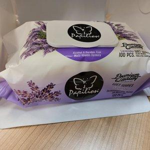 Papilion Wet Wipes Lavender Babydoekjes 100 st