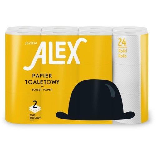 Alex Alex 24 rollen Toiletpapier 2-laags wit Extra wit wc papier
