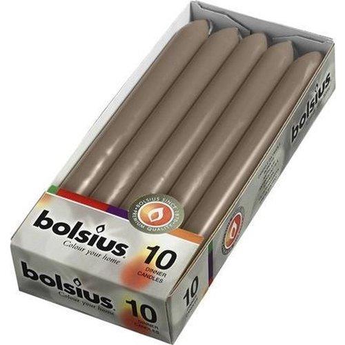 Bolsius Dinerkaarsen 23 X 2,13 Cm Wax Caramel Gold 8 Stuks