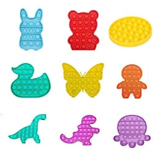 Onbekend Popit - Fidget Toy - Pop It Fidget Toys - met figuurjes-pop it met meerdere kleuren - Speelgoed