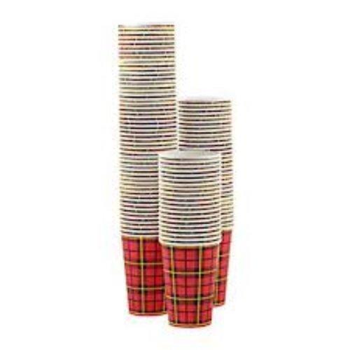 Beker, Hotcup, Scotty, Karton/PE, 180ml, 95mm,7,50z, rood/Beige 50 stuks