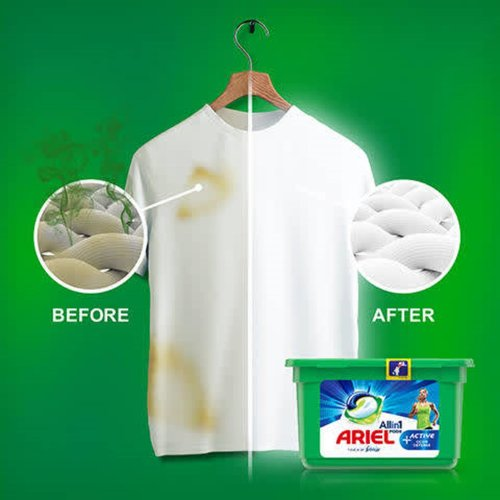 Ariel Wasmiddel Pods 3 in 1 Touch of Febreze Active Odor Defence (14x27,1gr)  379 gr 14 sc