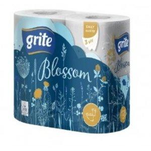 Grite Blossom 4 rollen Toiletpapier wit 3-laags wc papier  145 vel