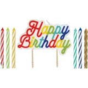 Onbekend Taartkaarsjes - verjaardag kaarsjes - Happy birthday candles 12 stuks gekleurd