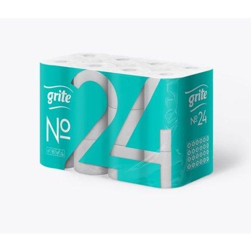 Grite No: 24 rollen Toiletpapier 2-laags wit Extra wit wc papier