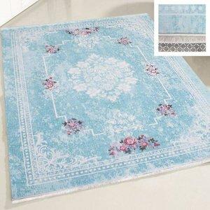 Majestik Majestik 1300 Turqoise Wasbaar tapijt 160x230