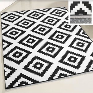 Majestik Majestik 1220 Wasbaar tapijt Zwart 160x230