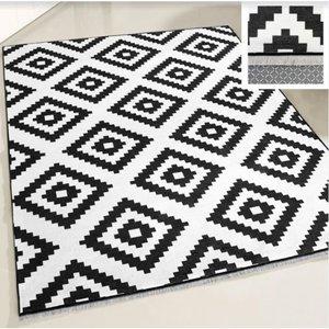 Majestik Majestik 1220 Wasbaar tapijt Zwart 80x300