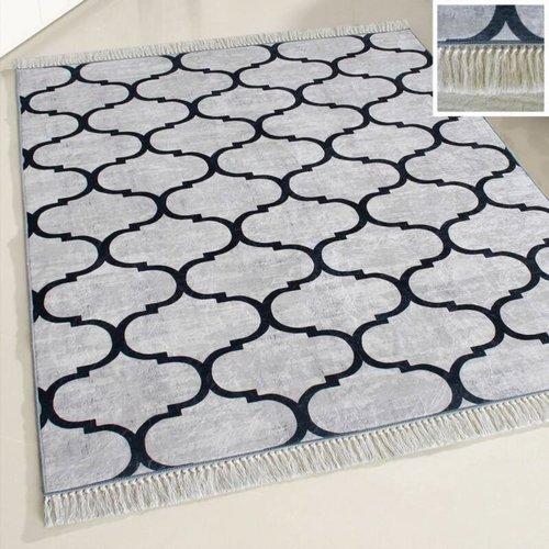 Caimas Caimas 2790 Wasbaar tapijt Grijs Zwart Marokkaans design 160x230